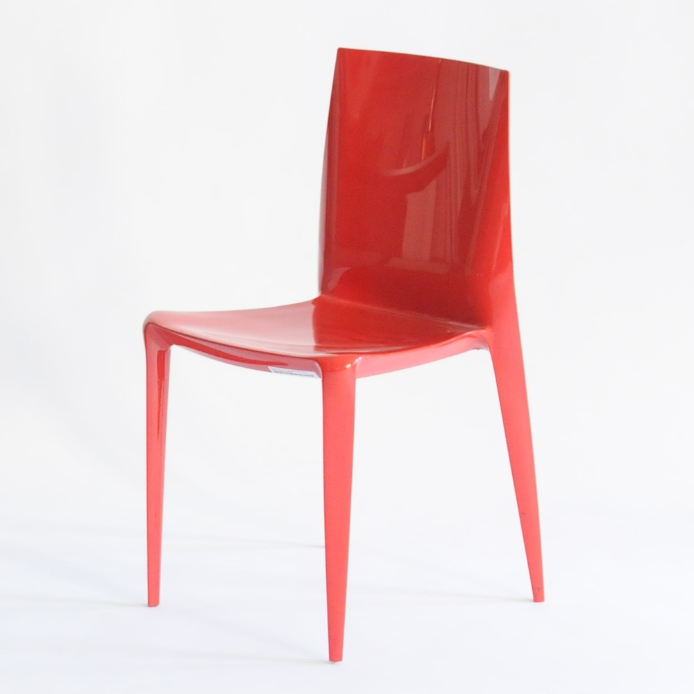 bellini chair red glossy
