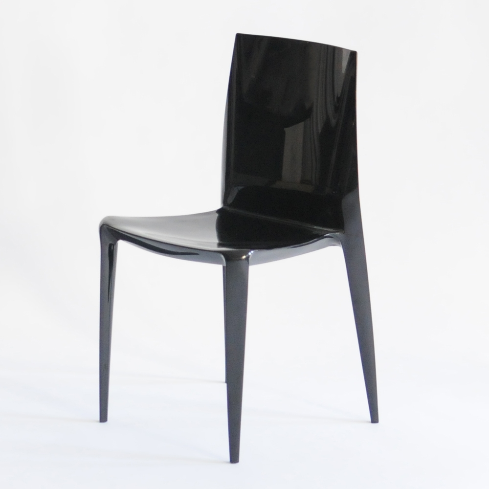 bellini chair black glossy