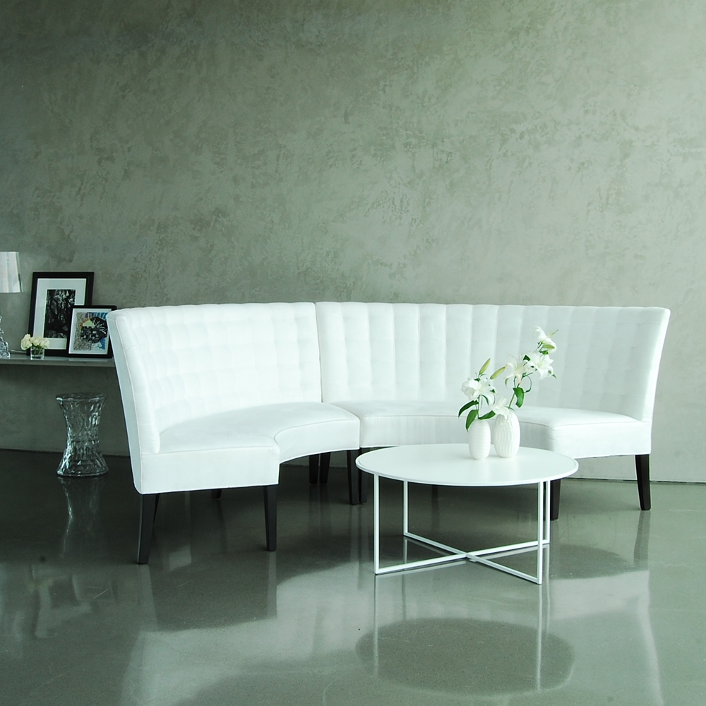 madison banquette white