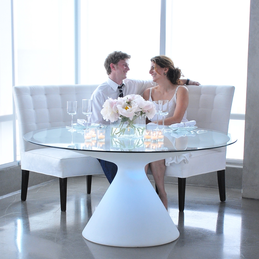 hour glass  table