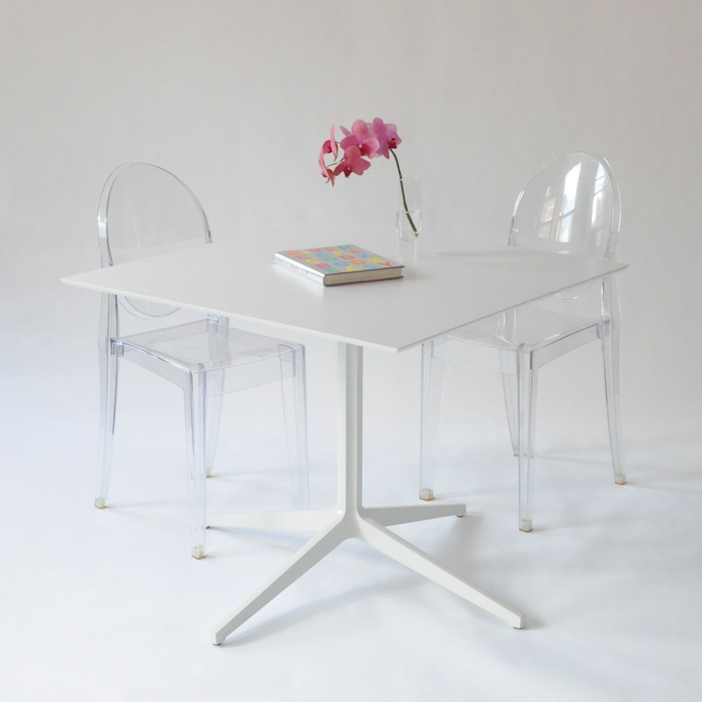 leo square table white