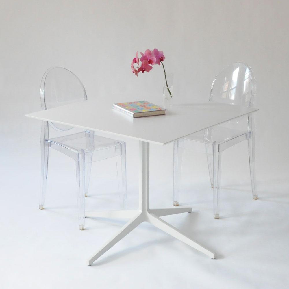 leo square table white