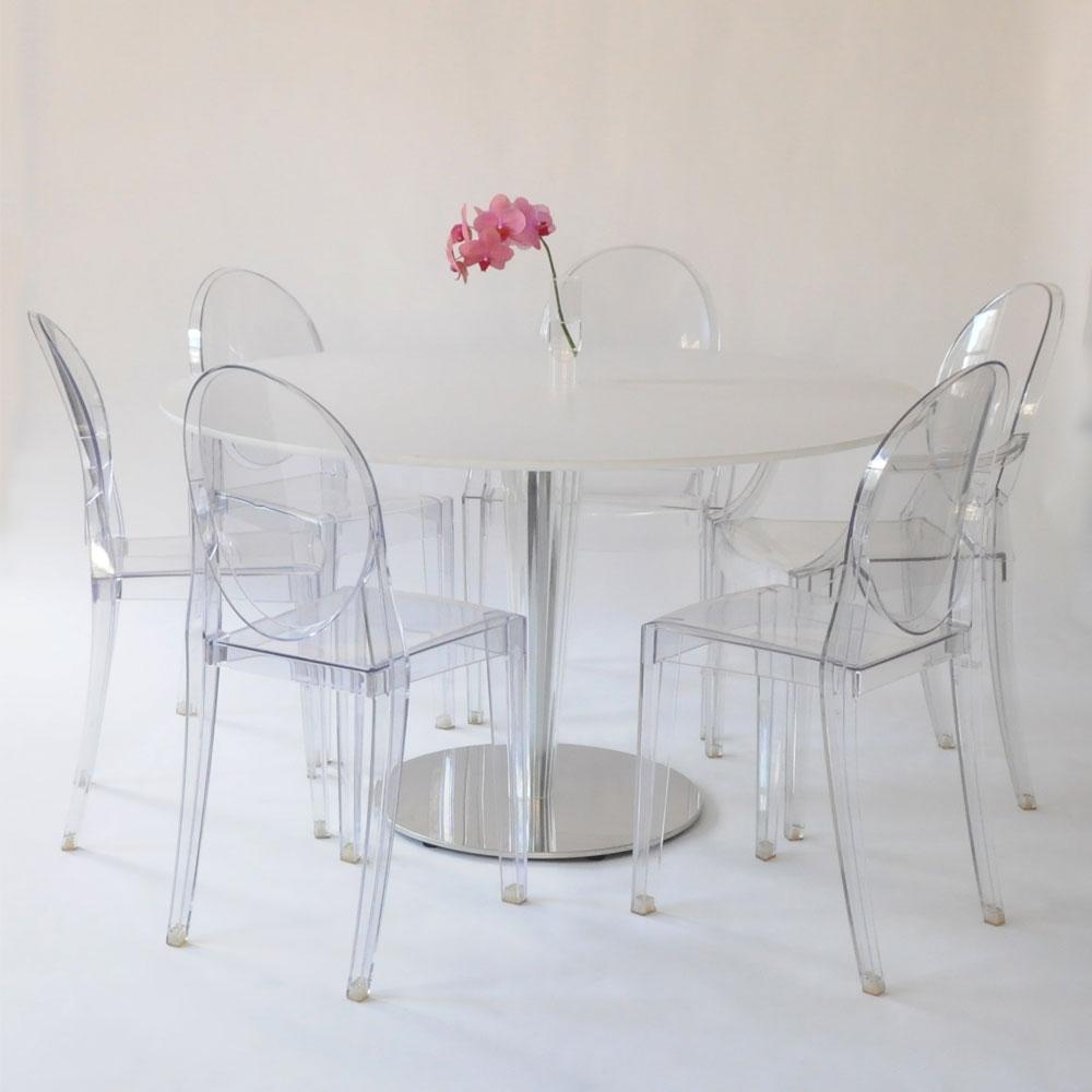 kristalo table white