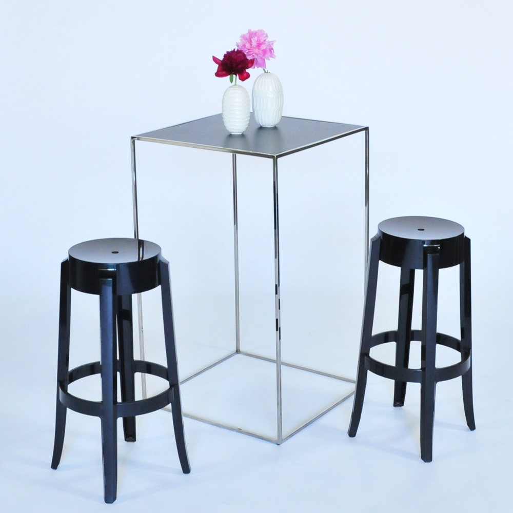 edge pedestal chrome w/ black
