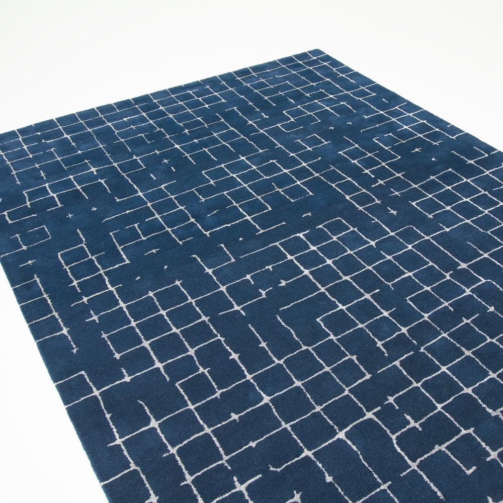 navy net area rug