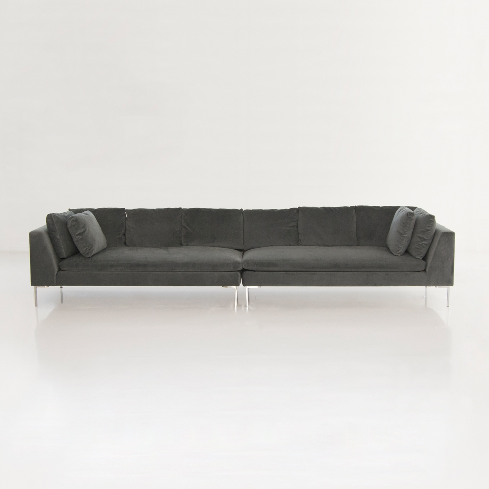 hudson loveseat gray