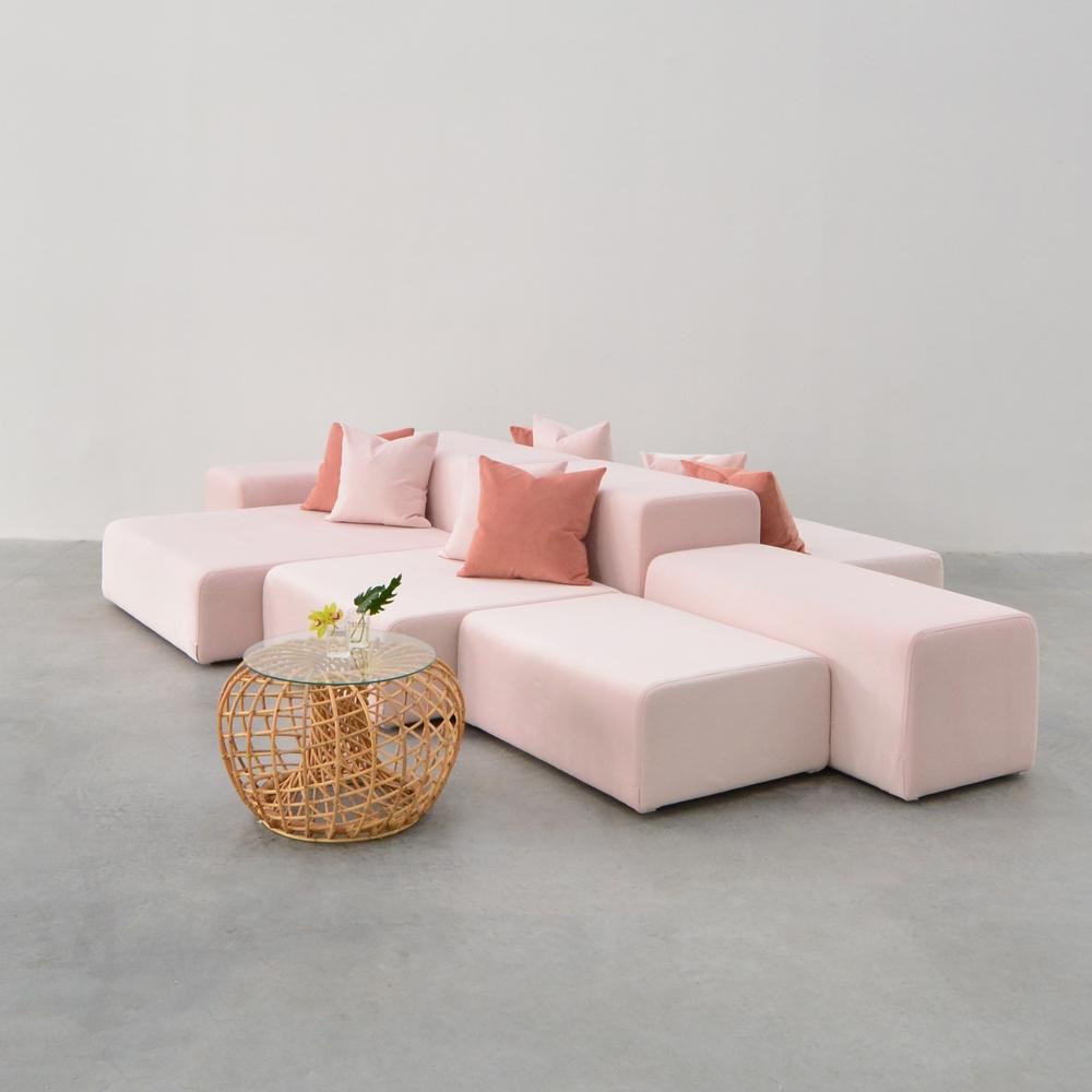 lounge modular pink