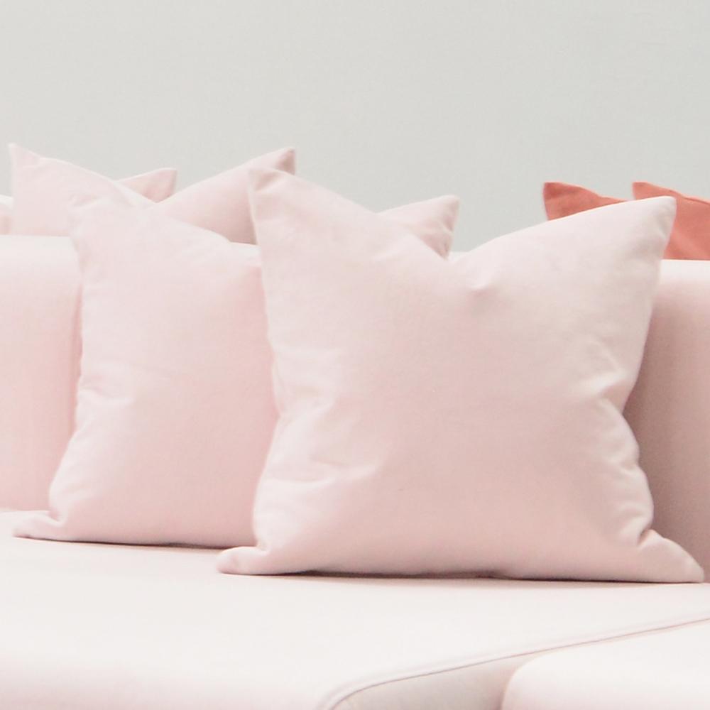 millennial pink pillow