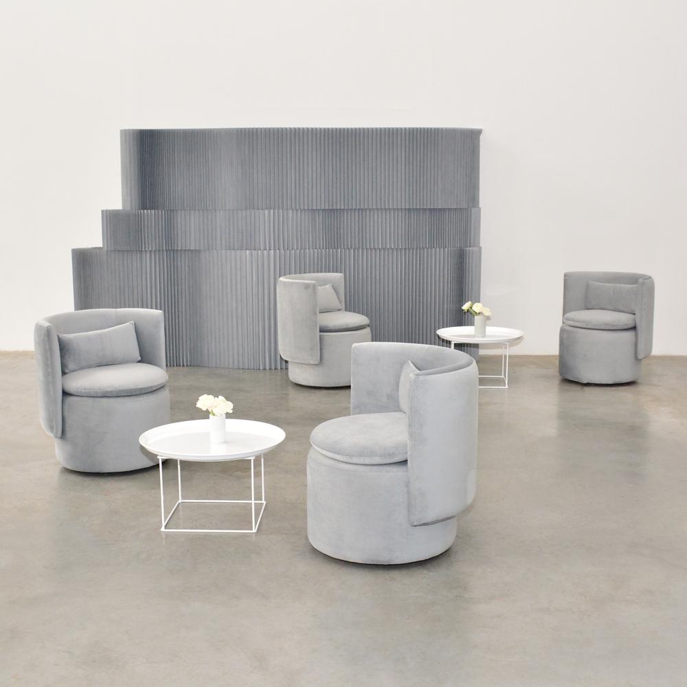 swivel chair gray