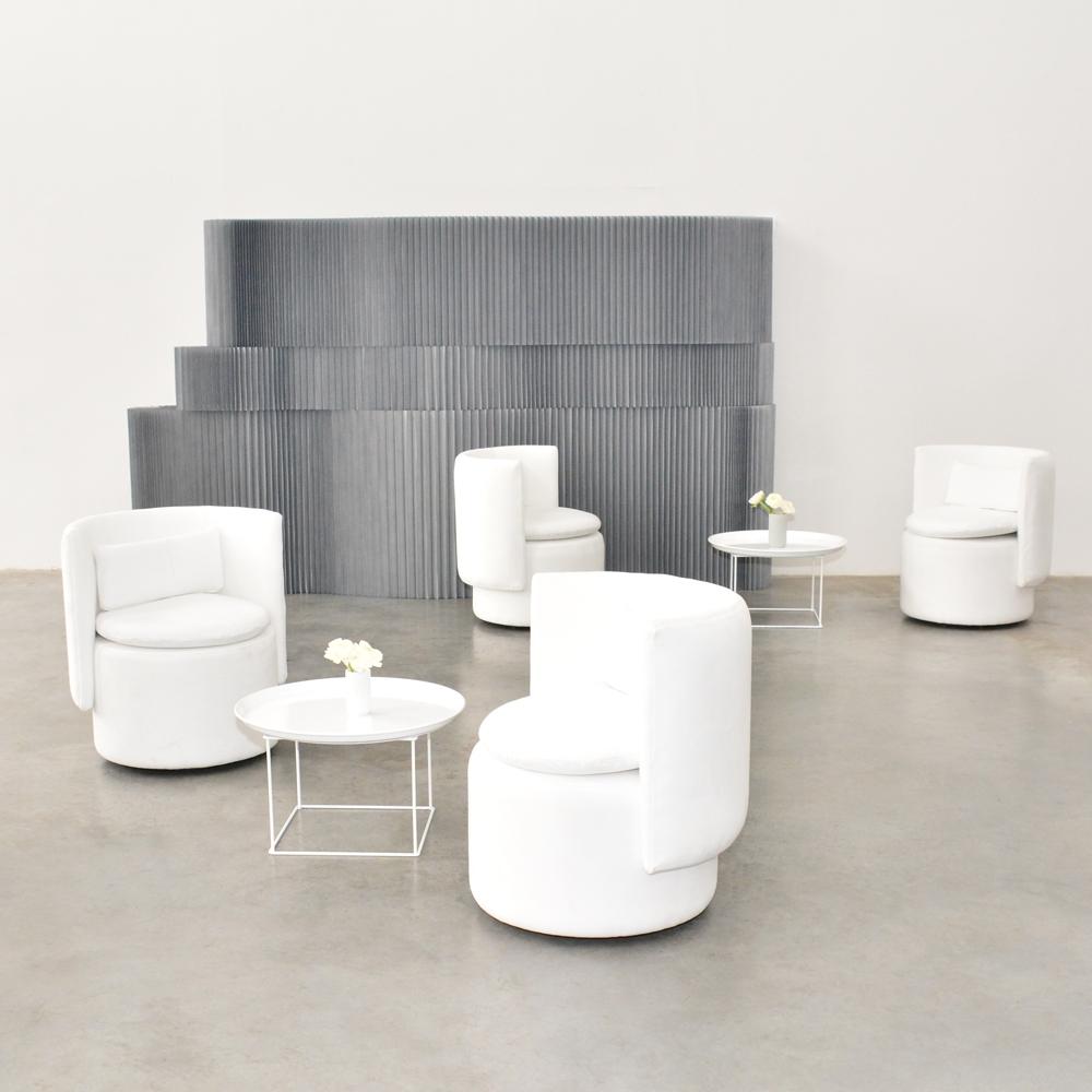 swivel chair white