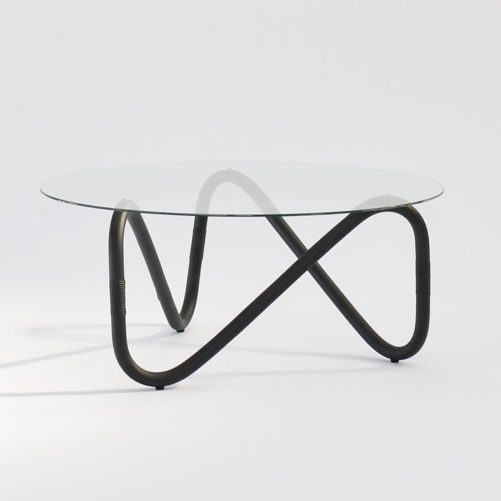 wave coffee table black