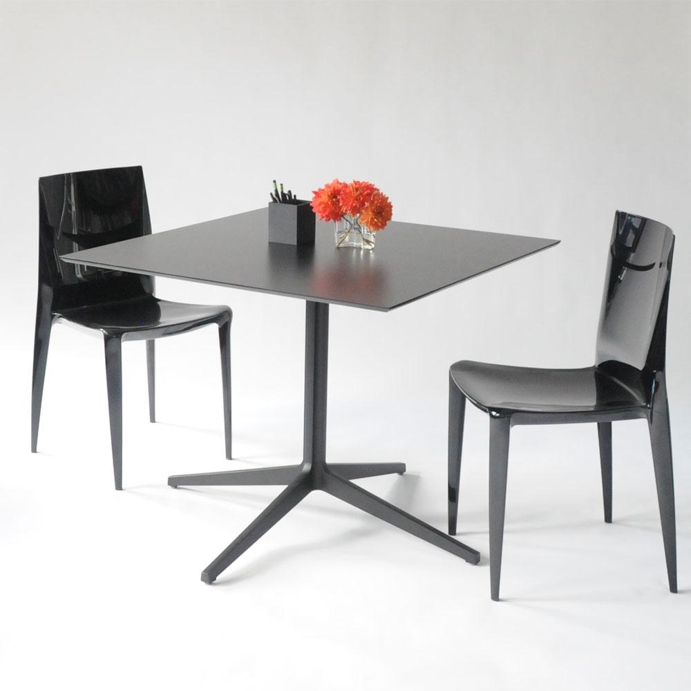 leo square table black