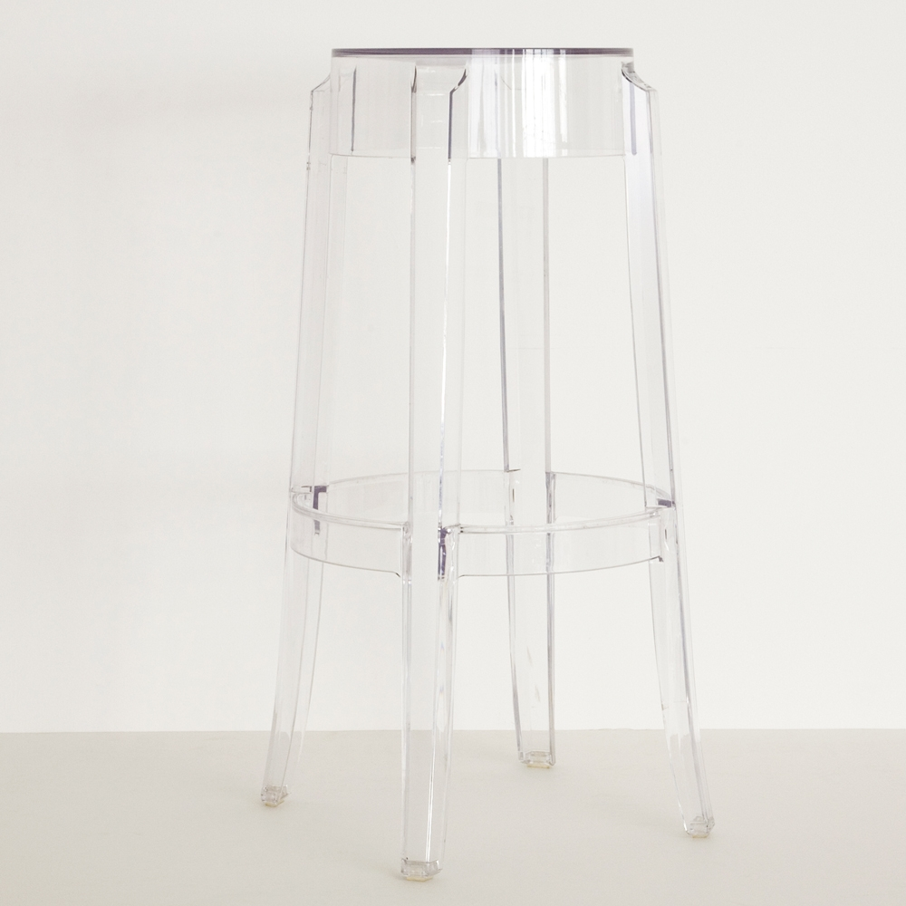charles ghost barstool clear