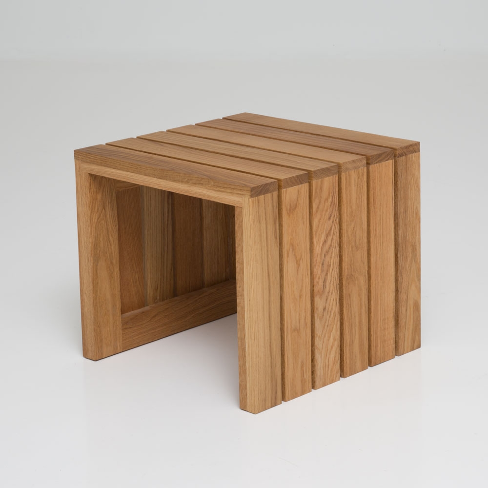 slat side table/bench