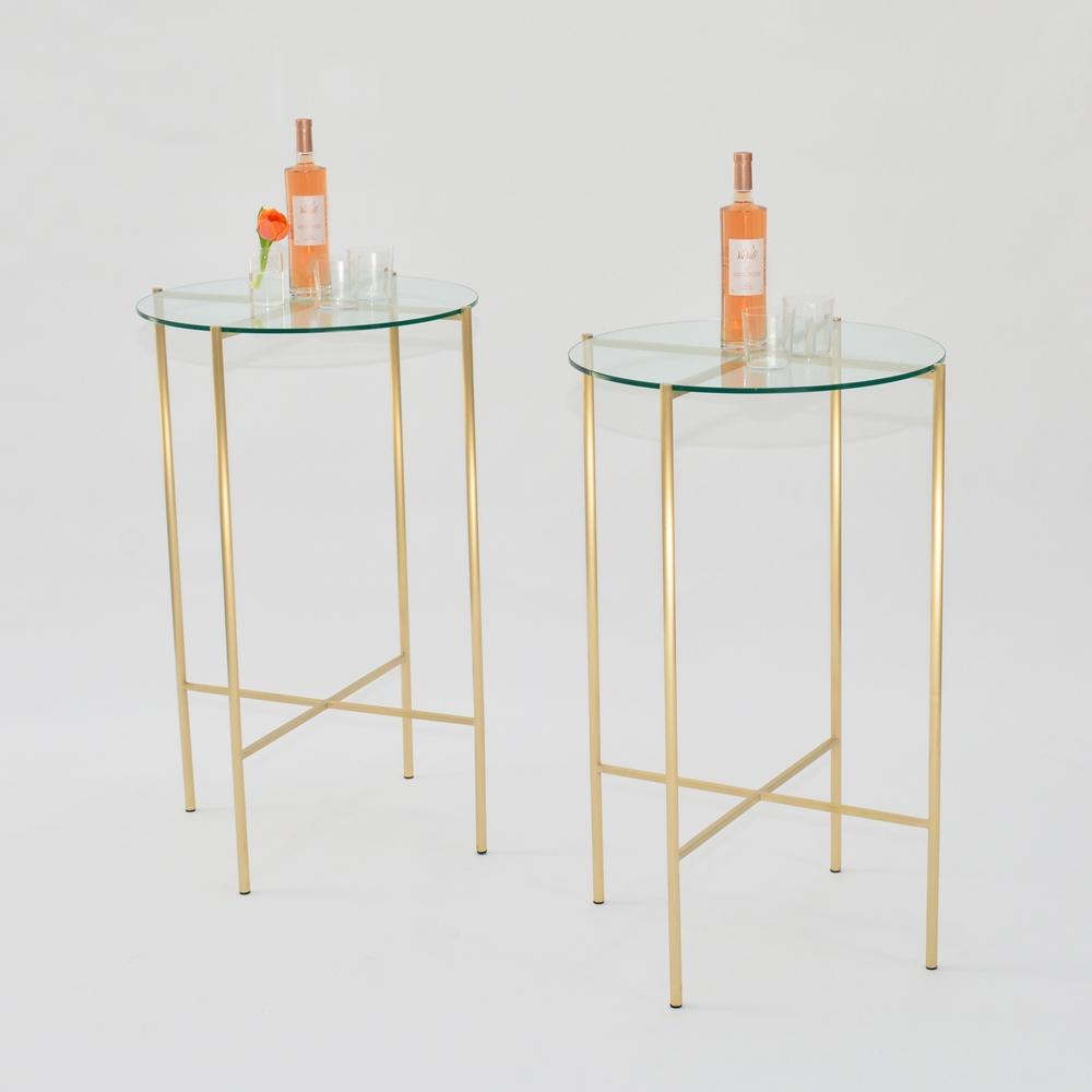 maxwell round pedestal clear glass
