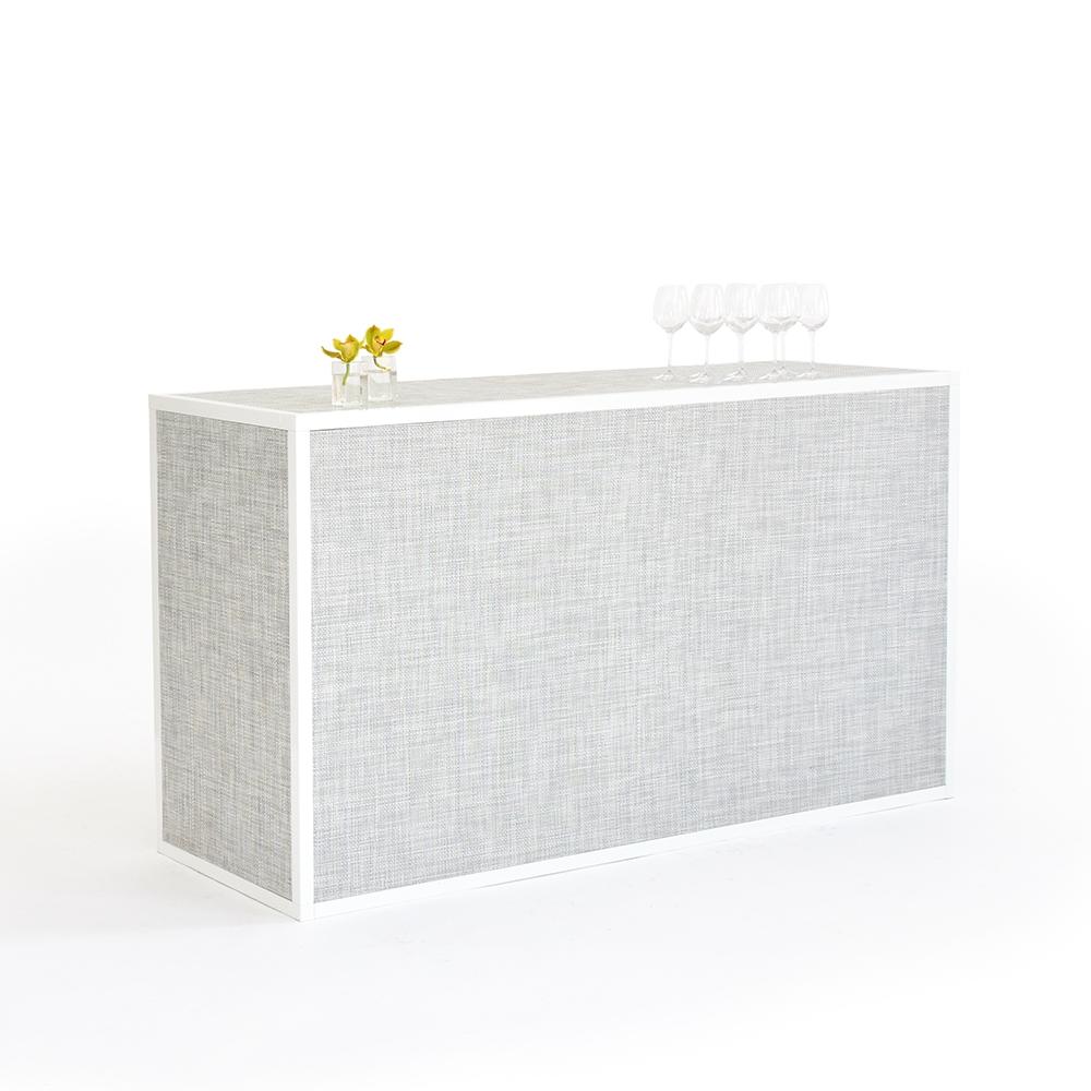chilewich bar - white/silver