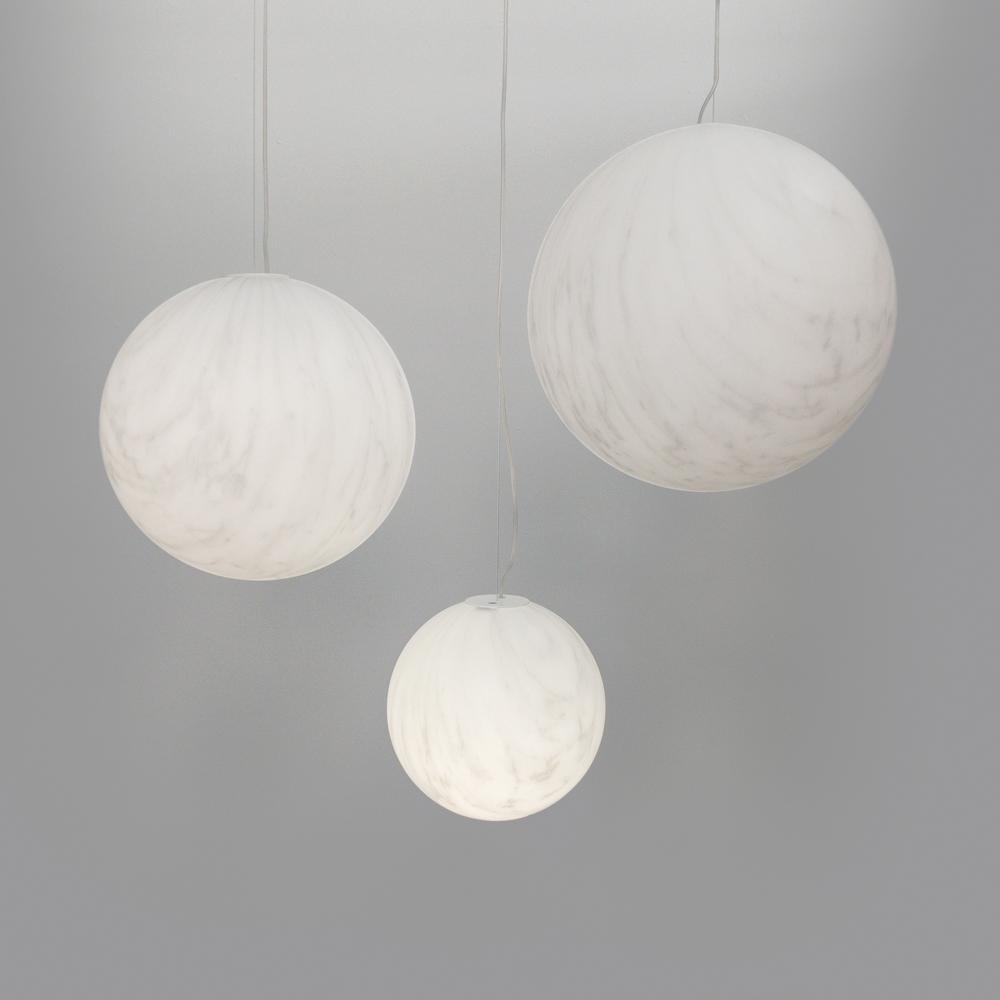 marble globe hanging light