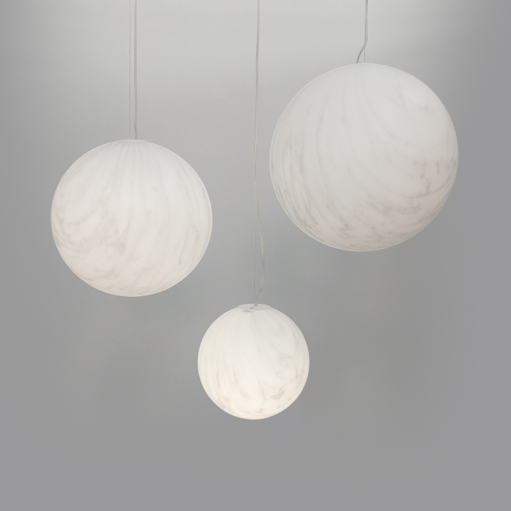 marble globe hanging light