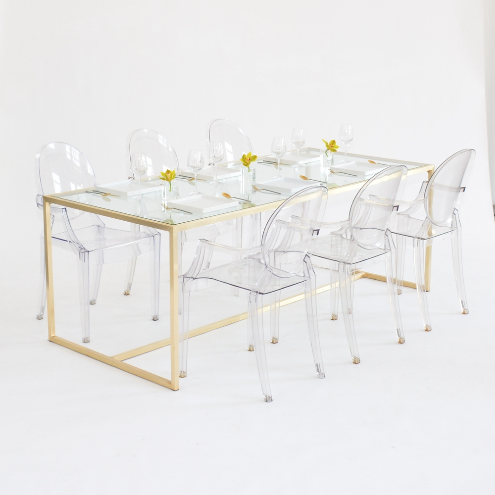 maxwell dining table clear glass