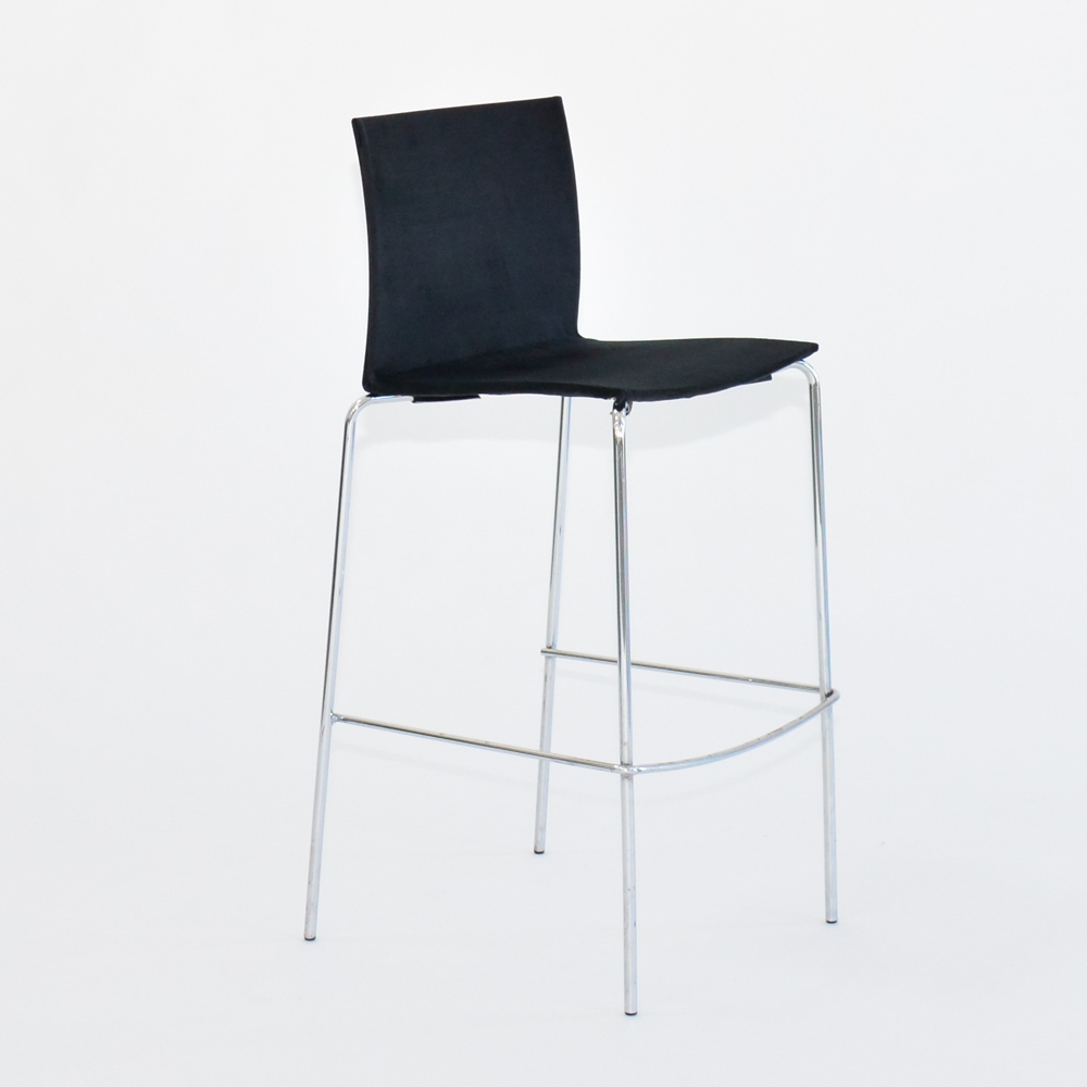 flex barstool black