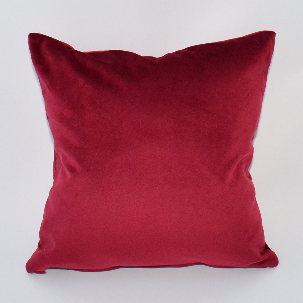 garnet velvet pillow
