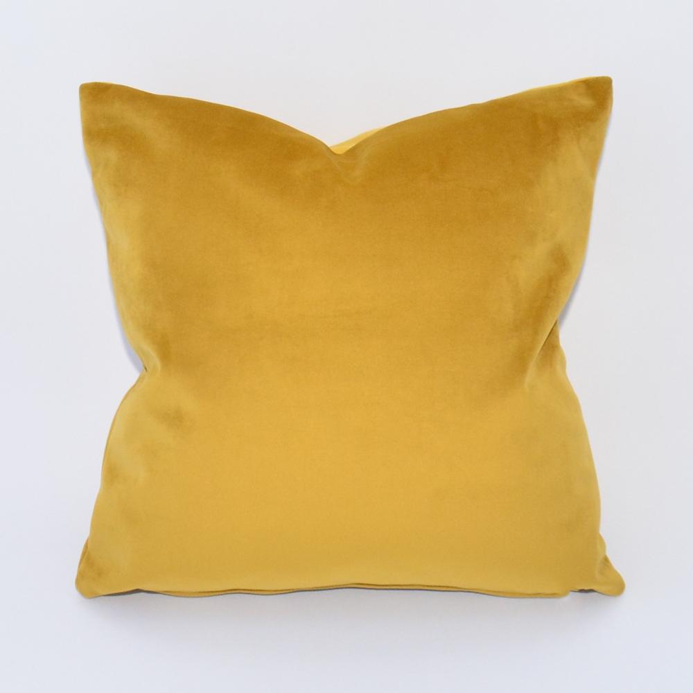 gold velvet pillow