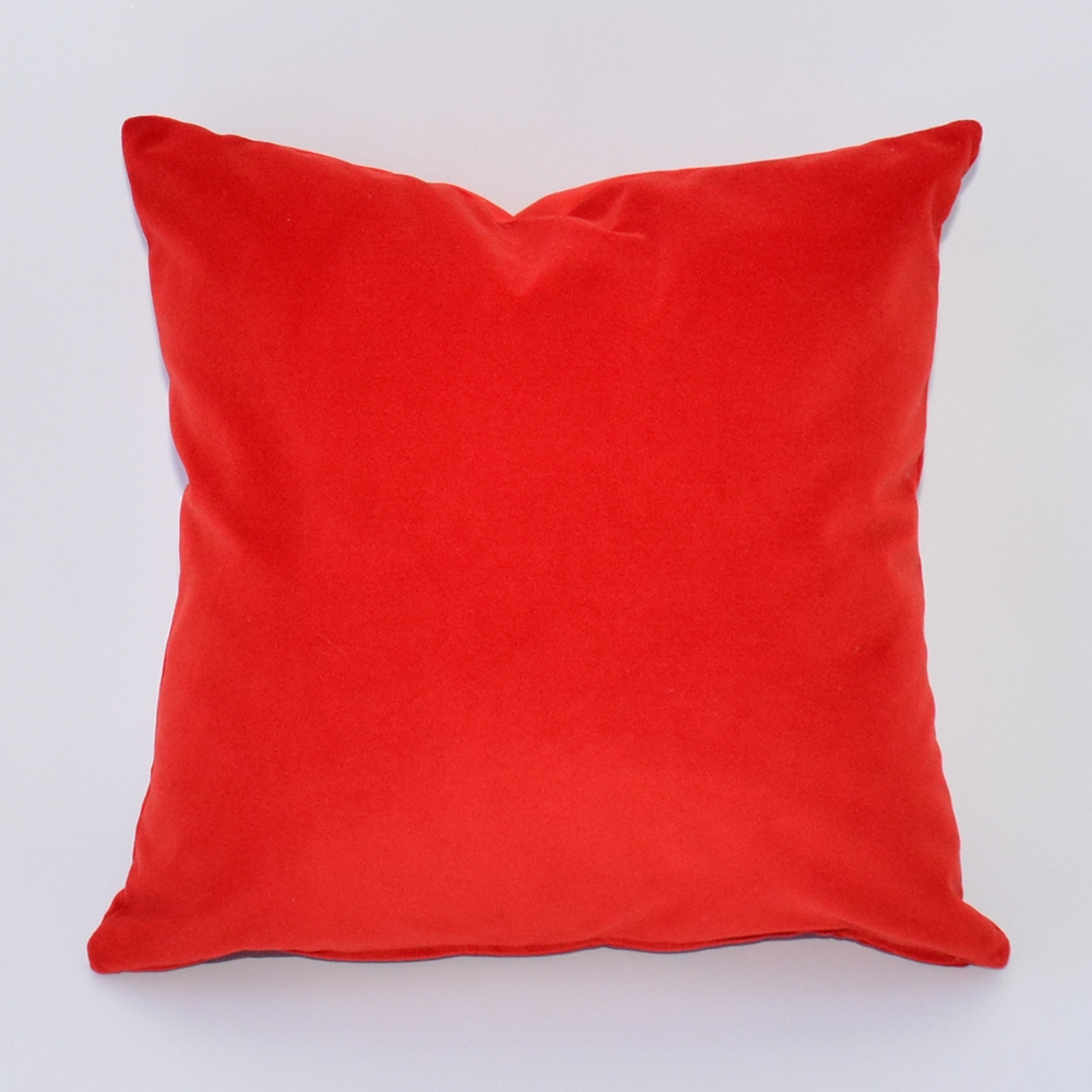 vermillion velvet pillow