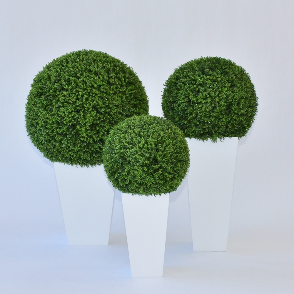 faux boxwood sphere