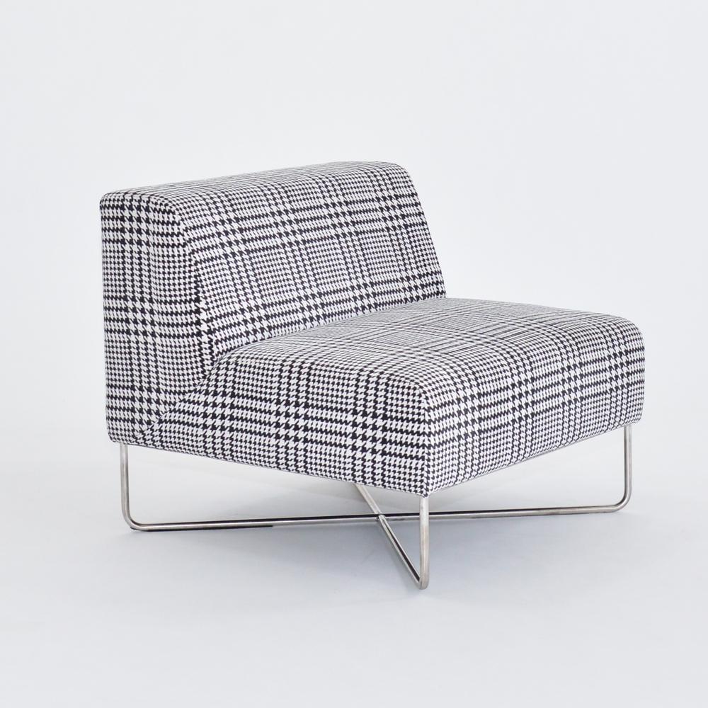 balance chair plaid