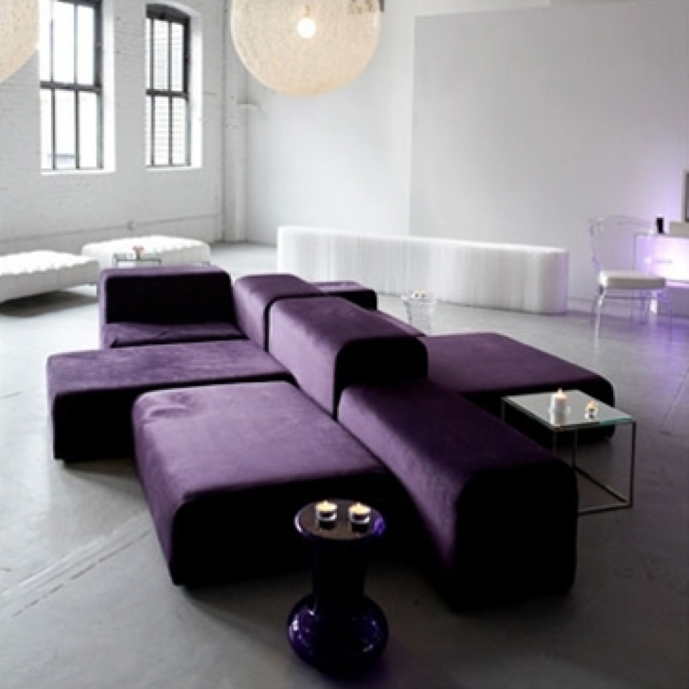 lounge modular plum