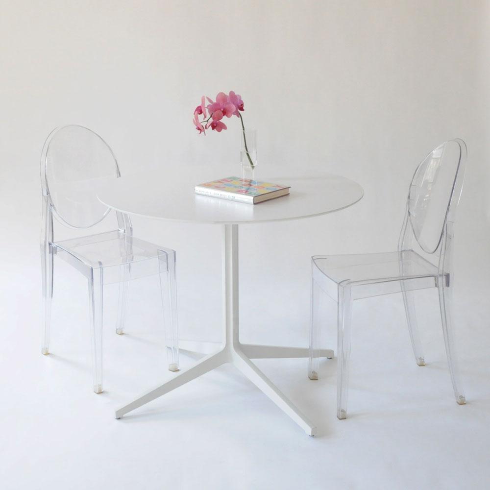 leo round table white