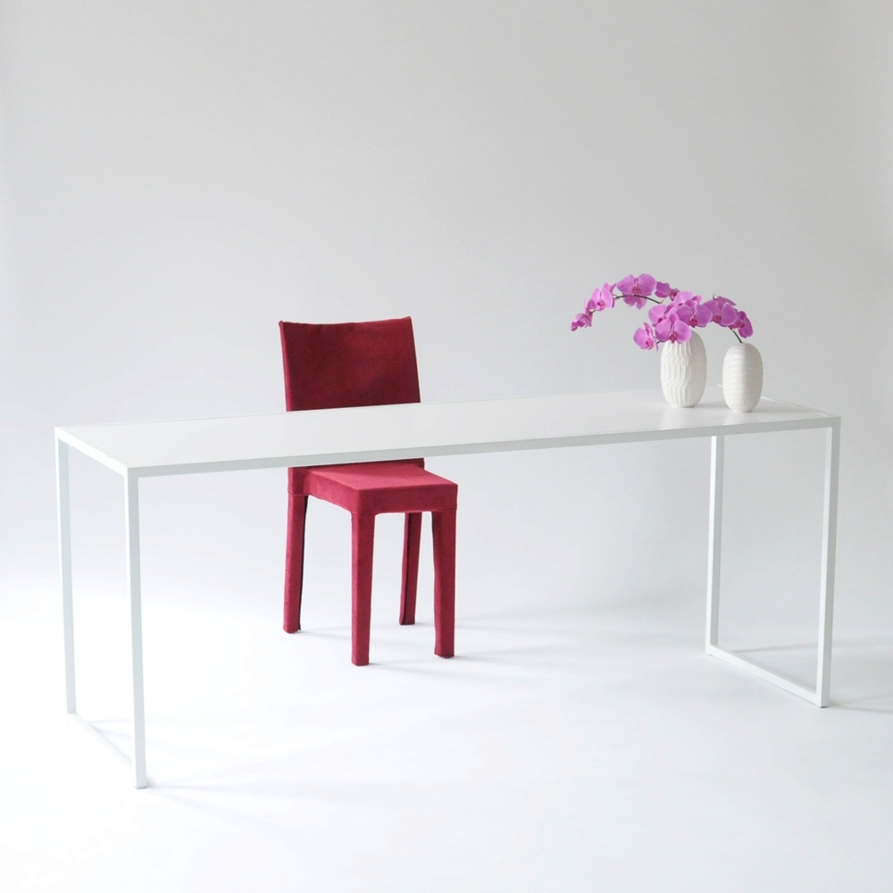 bedford table white