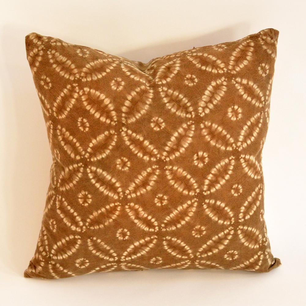 batik floral pillow