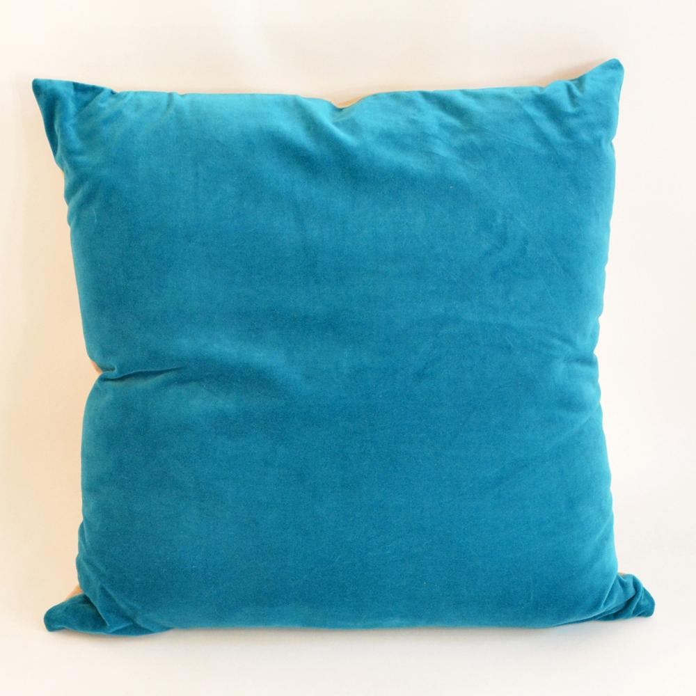 turq velvet pillow