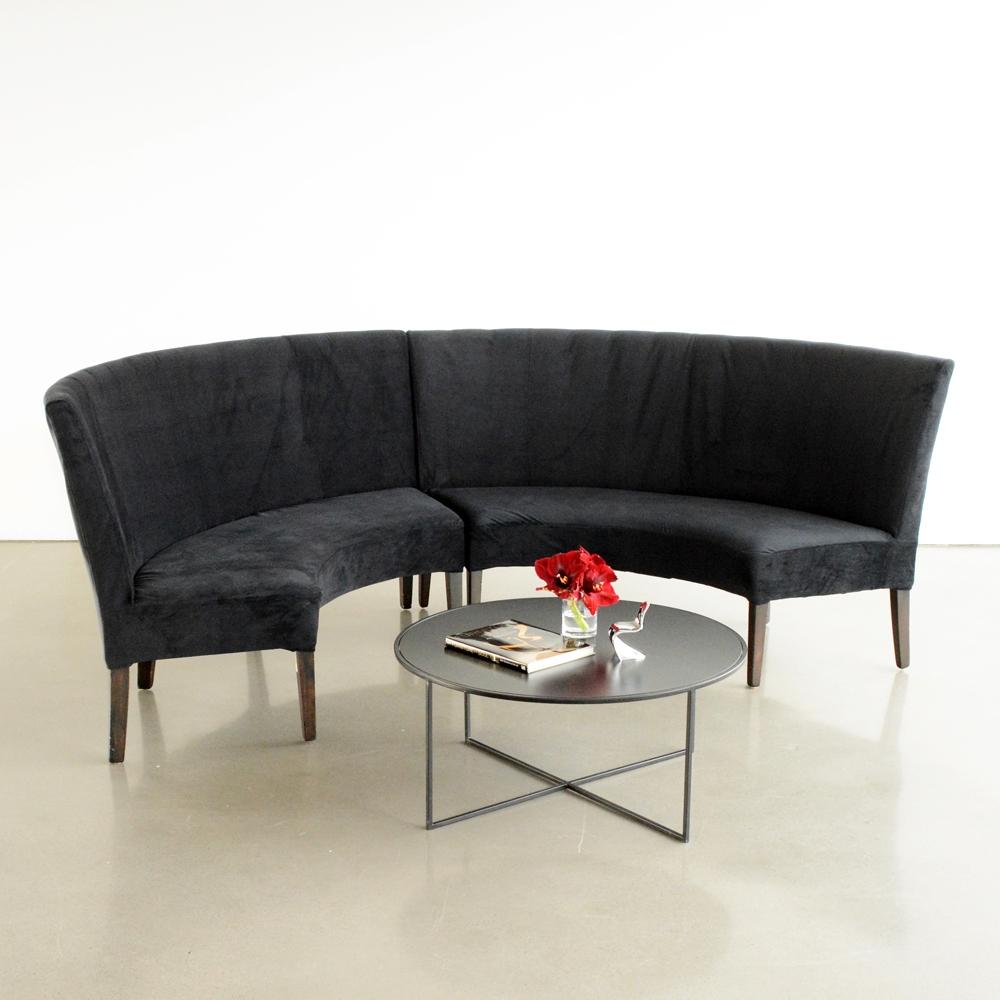 madison banquette black