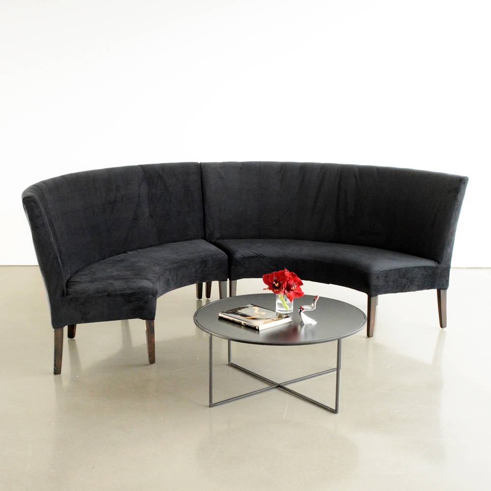 madison banquette black