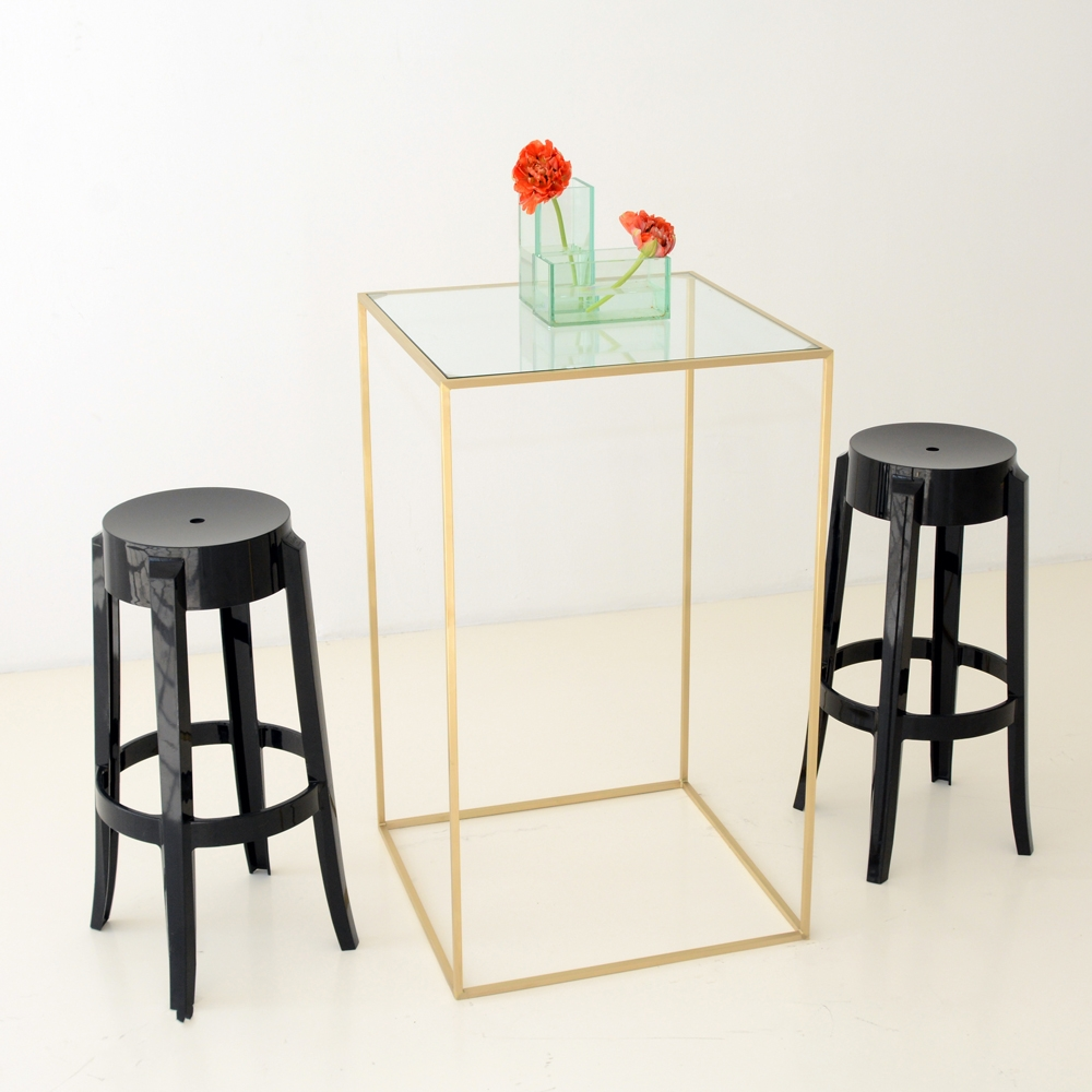 maxwell square highboy clear glass