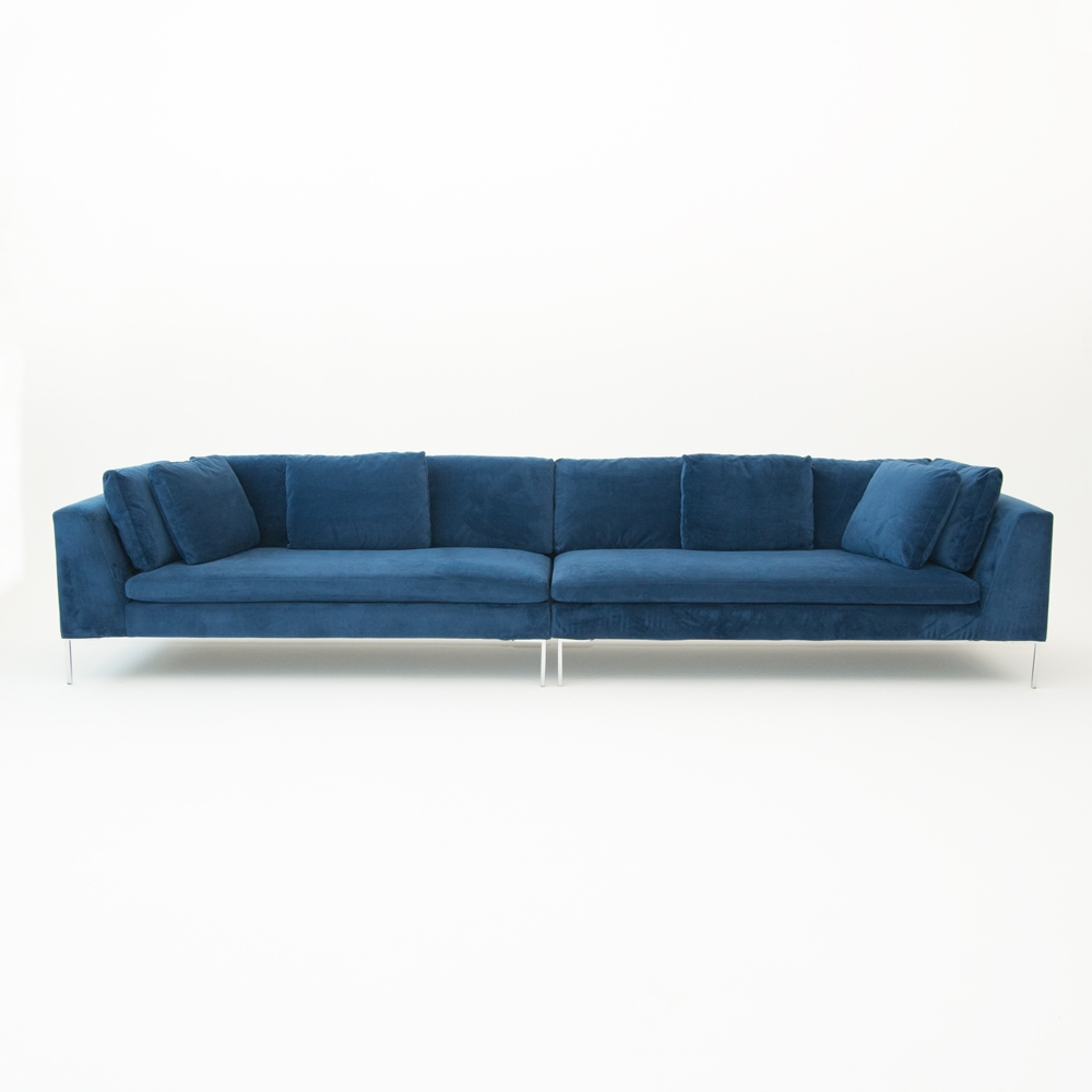 hudson loveseat blue