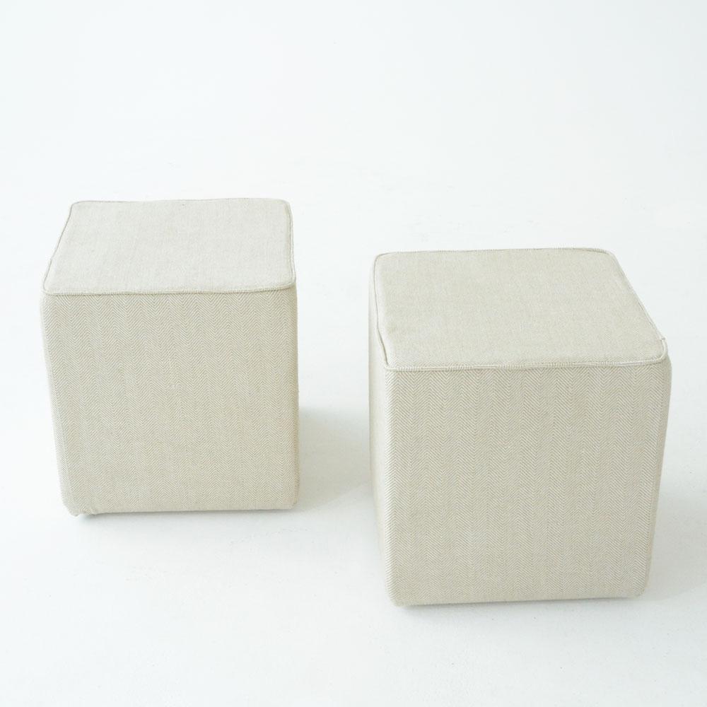 oscar cube linen chevron