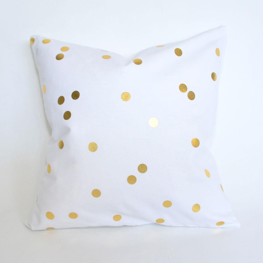 bee dot pillow