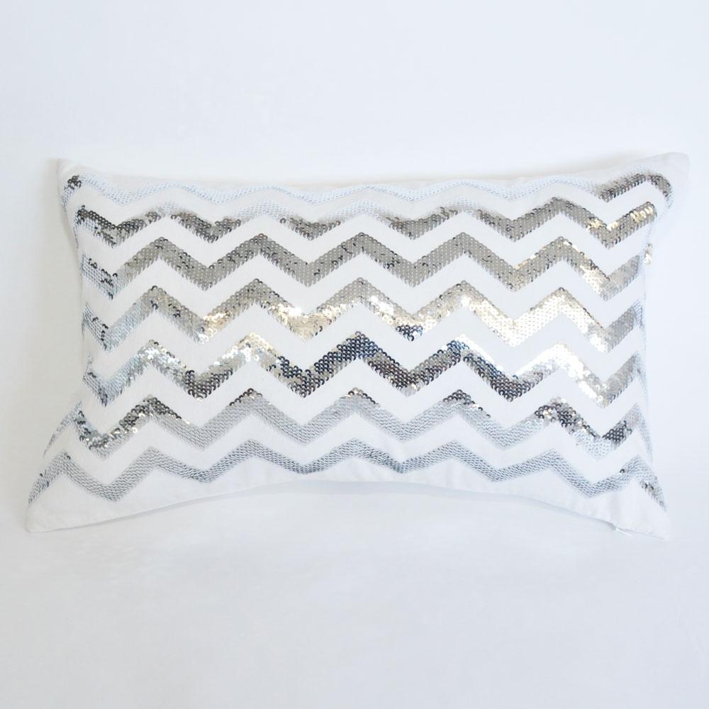 sterling chevron pillow