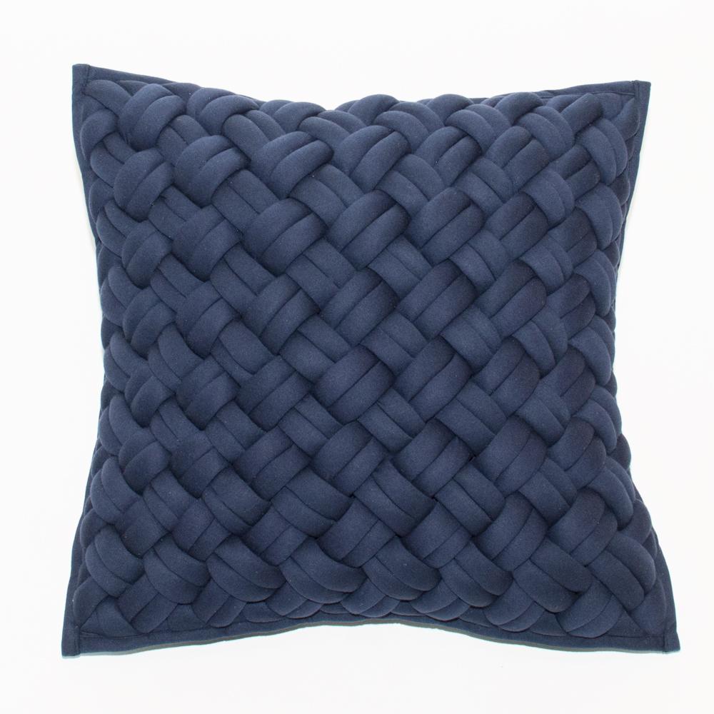 interlock pillow blue