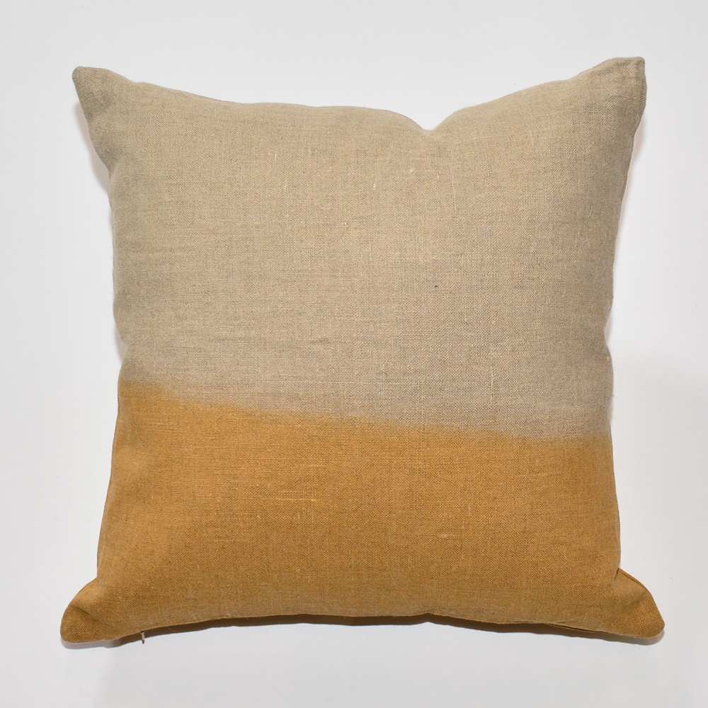 dip-dye pillow