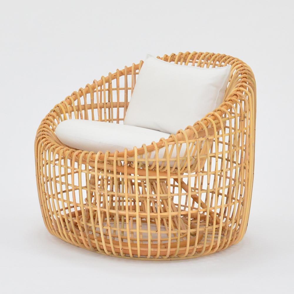 cane lounge chair