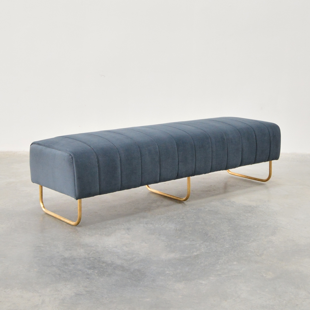 savile bench gray