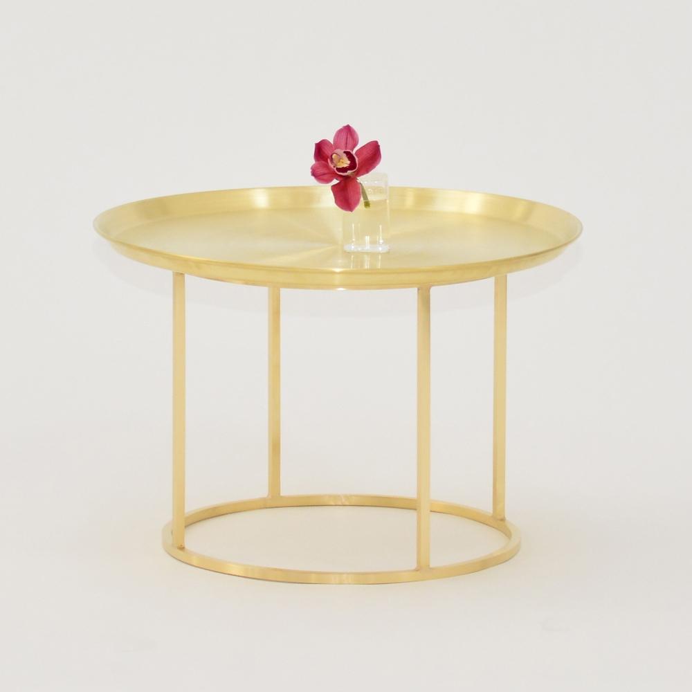 plateau coffee table brass