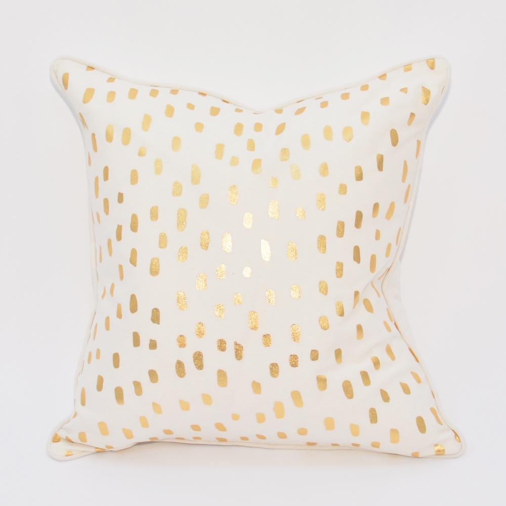 leopard metallic pillow