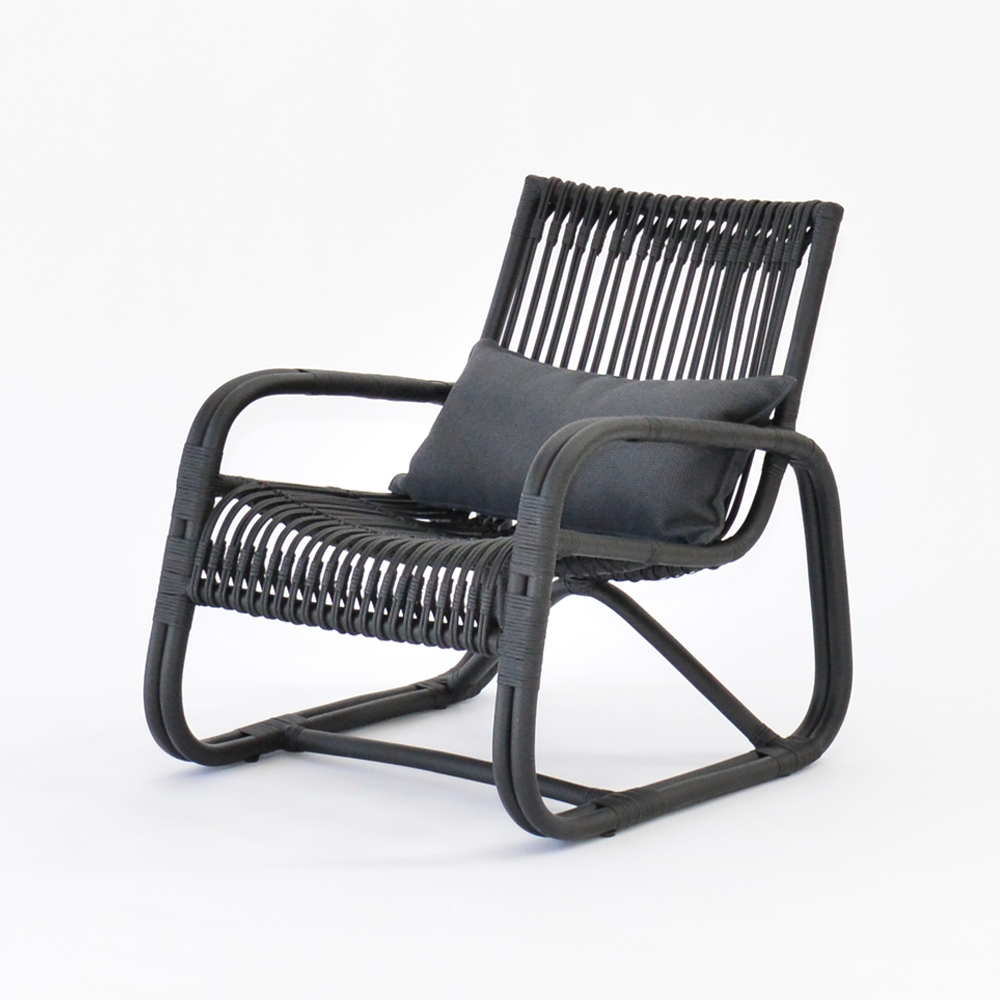 curve lounge chair black