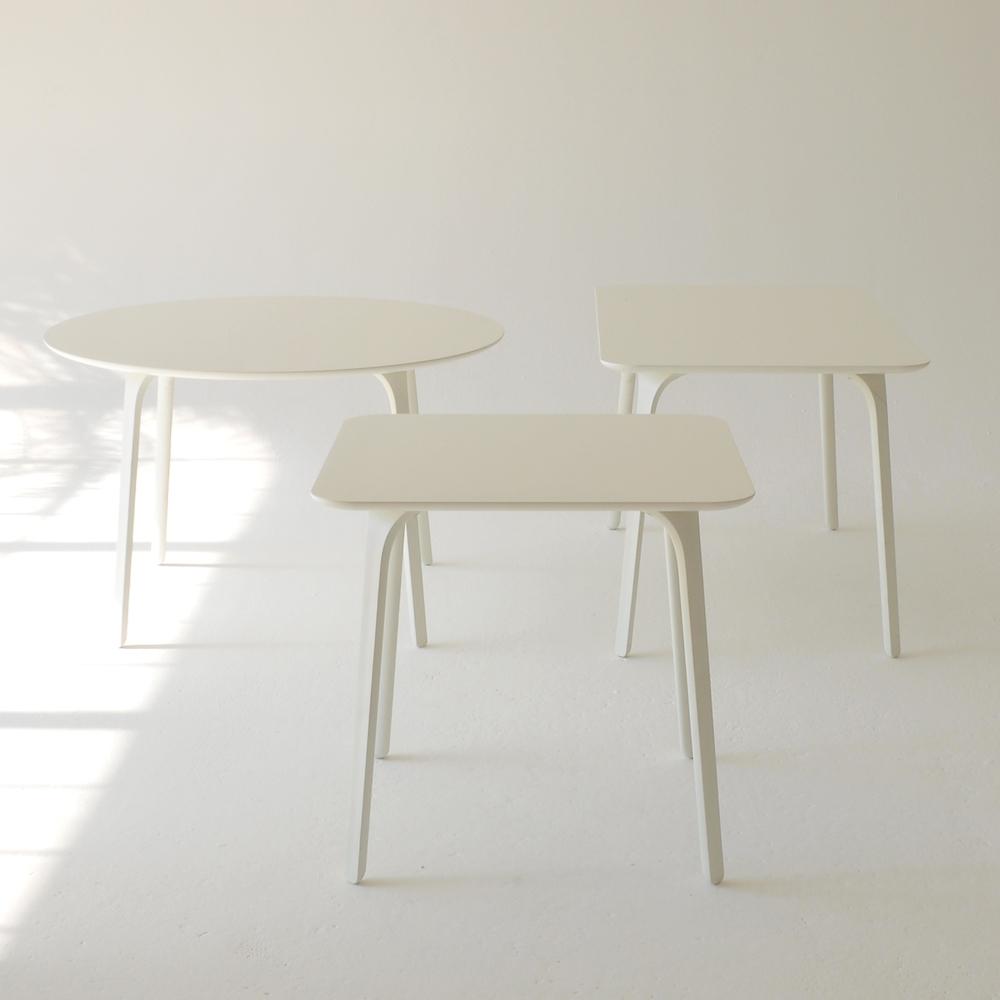 milano tables white