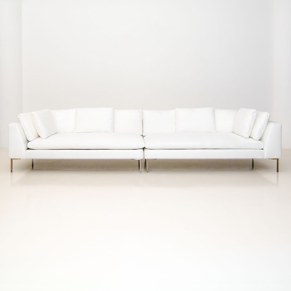 hudson loveseat white